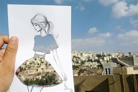 design instagram cutout fashion illustrator completes his cut out dresses with