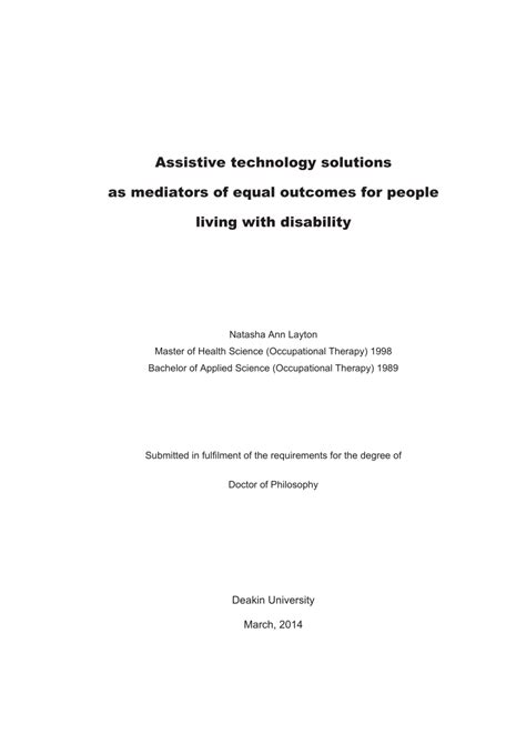 which staff section is responsible for establishing a pr cell assistive technology solutions as mediators of equal