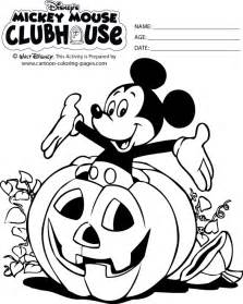 halloween mickey colouring pages