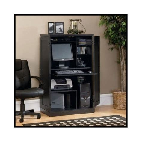 Computer Armoire Hutch Office Home Desk Workstation Hideaway Desks Home Office