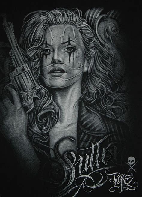 sullen art lowrider tattoo florez masc gun t shirt