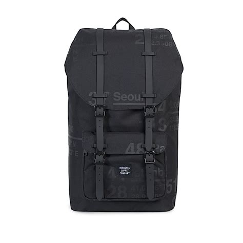 herschel supply co america backpack site black rubber 10014 01146 os at