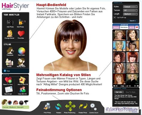 hair styles for face simulator frisuren testen com laden sie ihr foto virtuelle