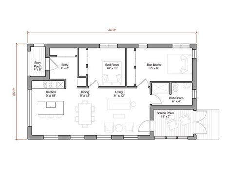 Small Modern House Plans Under 1000 Sq Ft The 1 000 Square Foot Prefab House Plan Offers Energy