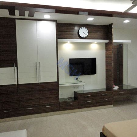 tv unit and also gray color kitchen unit led lights