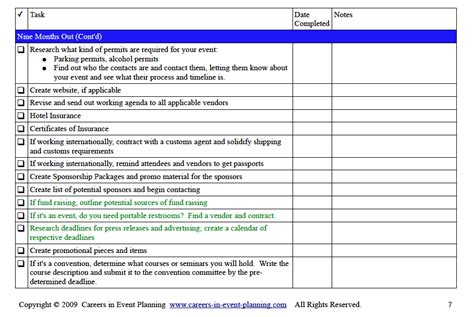 event planning to do list template event planning checklist