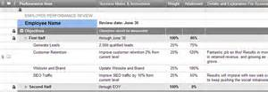 employee objectives and performance review smartsheet