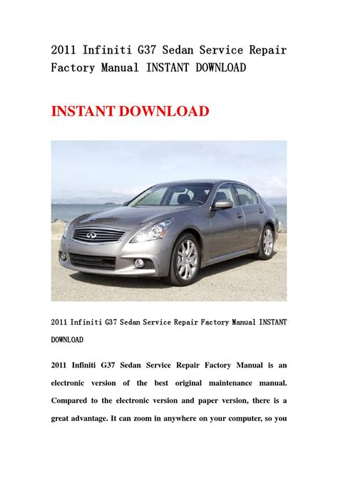 service manual work repair manual 2011 infiniti g37