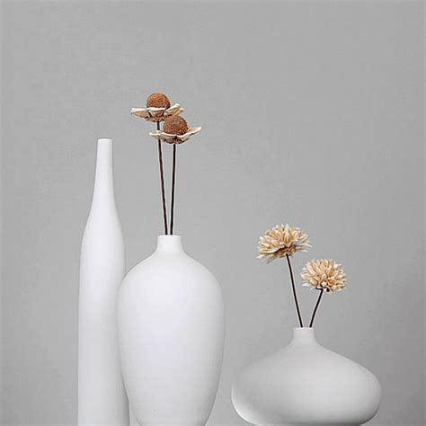 White Floor Vase Modern set of 3 modern white porcelain vase ceramic flower vases