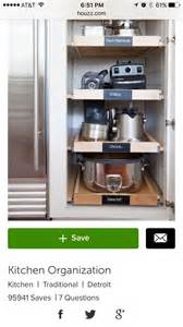 kitchen appliance storage 17 best ideas about kitchen appliance storage on pinterest