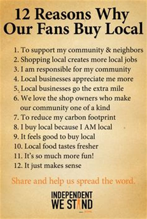 7 Reasons To Buy Local by 1000 Images About Support Your Local Merchants On