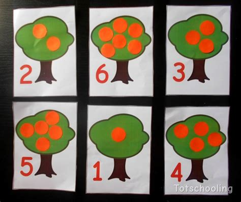tree with a toddler orange tree counting activity with free printable