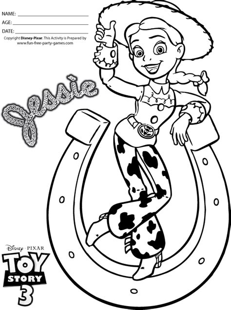 toy story coloring pages games free jesse toy story coloring pages