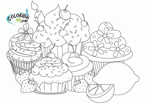 coloring pages of cupcakes and cookies coloring pages of cupcakes and cookies coloring home