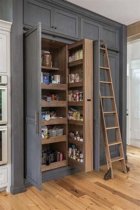 Floor to Ceiling Pull Out Pantry Cabinet   Transitional
