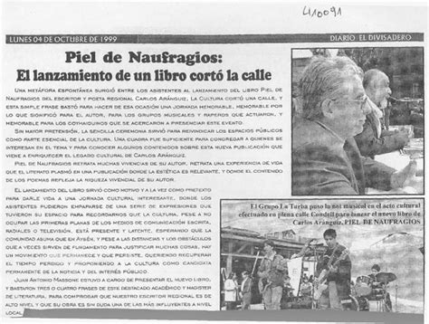 el francotirador libro fecha de lanzamiento piel de naufragios el lanzamiento de un libro cort 243 la calle art 237 culo biblioteca nacional