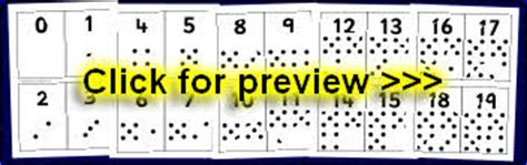 dot pattern flashcards printable counting flash cards for primary sparklebox