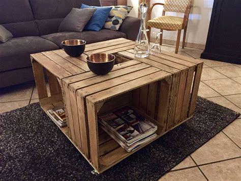 table caisse en bois des tables basses 224 base de caisses 224 pommes