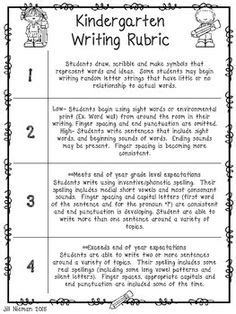 Writing Report Cards For Kindergarten by 1000 Ideas About Kindergarten Rubrics On Rubrics Kindergarten Writing Rubric And
