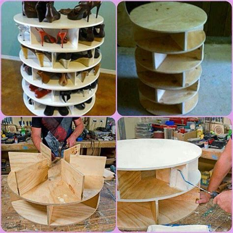 diy lazy susan shoe rack diy shoe rack or for that matter book shelf or crap