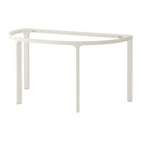 Bekant Frame For Half Round Table Top White 140x70 Cm Ikea White A Frame Desk