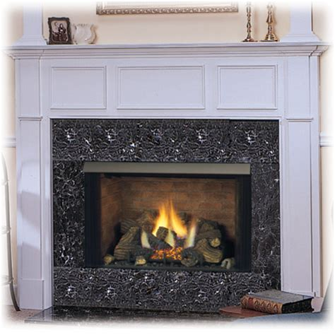gas fireplace logs with blower page title