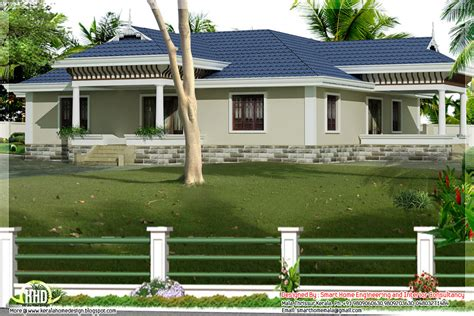 Kerala Home Design With Nadumuttam kerala style single story 3 bed room villa with nadumuttam