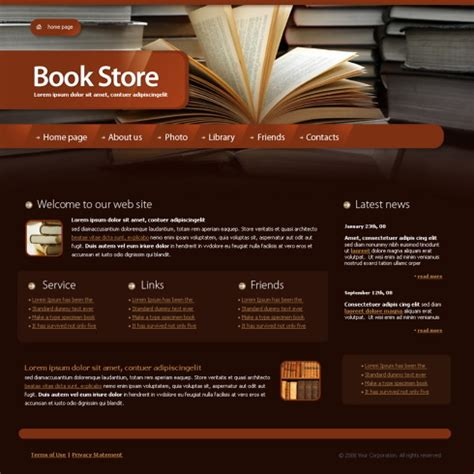 Library Web Template 4212 Education Kids Website Templates Dreamtemplate Library Template