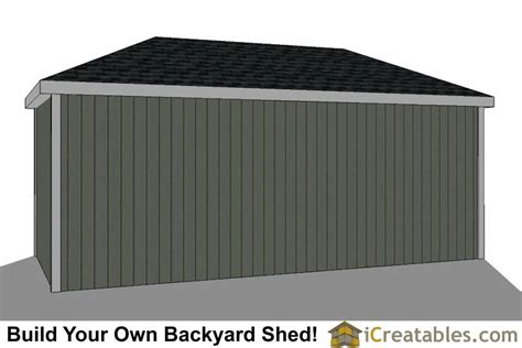 10 X 20 Shed With Floor - 10x20 hip roof shed plans