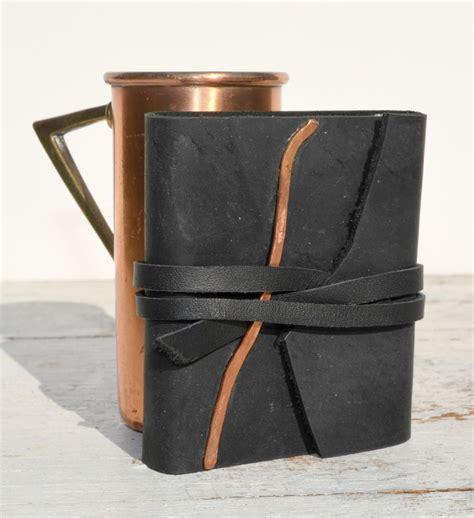 Handmade Leather Bound Journals - custom made handmade leather bound pocket journal