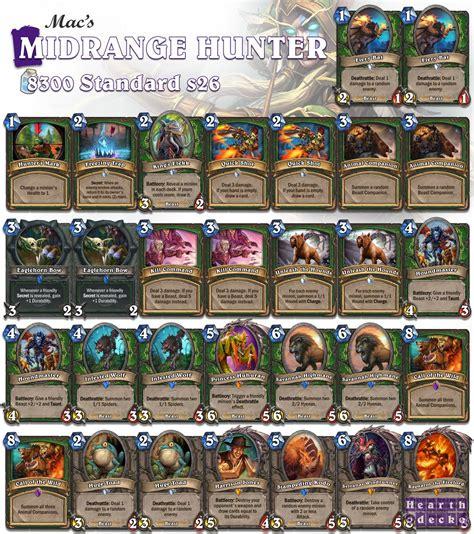 Midrange Deck by Top4legend Midrange Anti Meta Hearthstone Decks