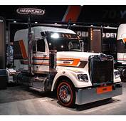White Freightliner Semi  Pacific Truck Colors