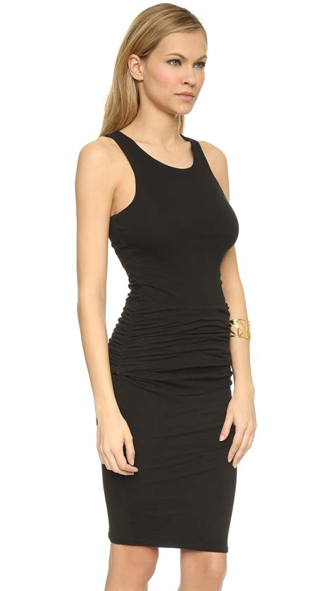 Tank Dress With Rouching by Ruched Tank Dress Black In Black Lyst