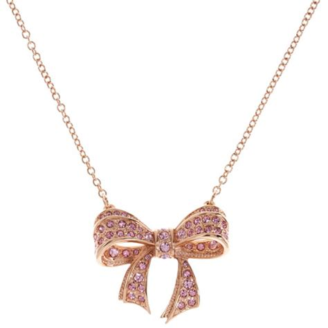 Ted Baker Necklace Bow Top ted baker pink bow necklace at jewellery4