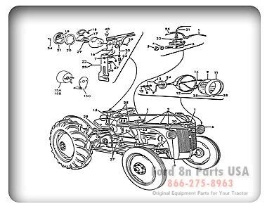 ford   parts  diagrams fordnpartsusacomford  ford tractor pinterest ford