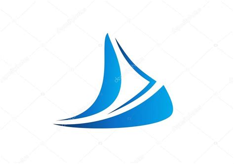 sailboat logo sailboat cruise business logo boat icon wind sea travel