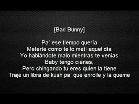 y lyrics un polvo maluma ft bad bunny arcangel de la y