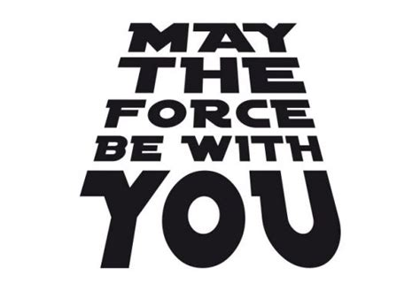 Wall Stickers Sports may the force be with you wall art com