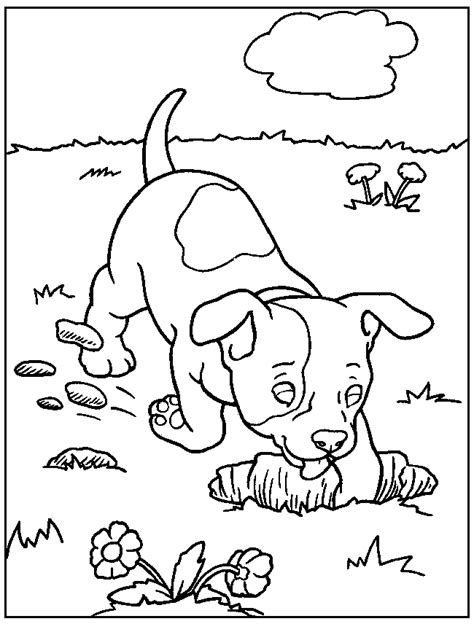 coloring in pages of dogs free printable dog coloring pages for kids