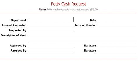 petty slips template petty request form petty request slip