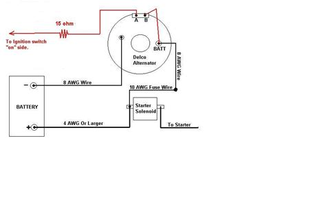 wiring diagram for 1 wire delco alternator autos post