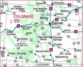 colorado state map cities maps colorful colorado