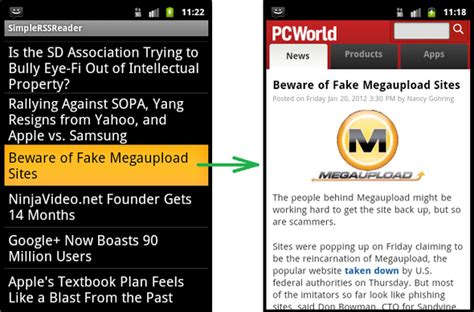 tutorial android rss reader creating a simple rss application in android android