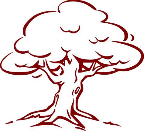 oak tree template burgundy oak tree clip at clker vector clip