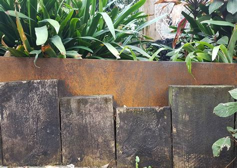 rusted steel garden edging garden ftempo