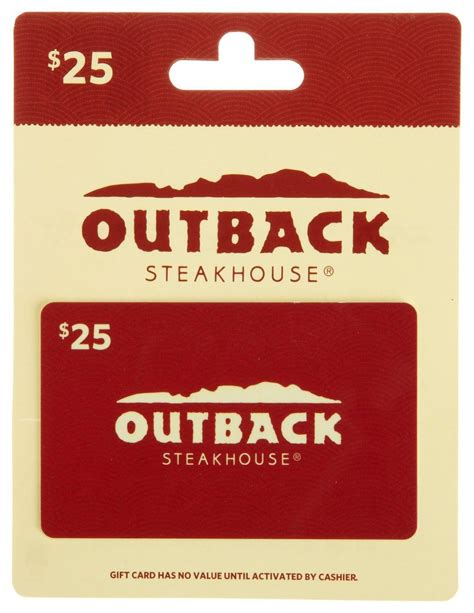 Outback Gift Card - 40 best gift cards for christmas 2017 unusual gifts