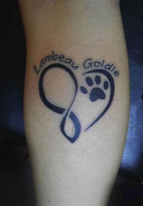 infinity tattoo with dog paw simple paw tattoo google search tattoos pinterest