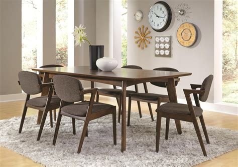 coaster dining room sets coaster malone mid century 7 dining room set in