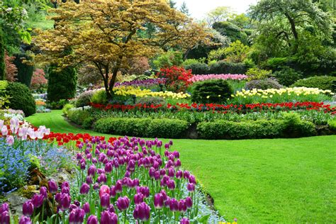 World Renowned Butchart Gardens On Vancouver Island Bc Flower Garden