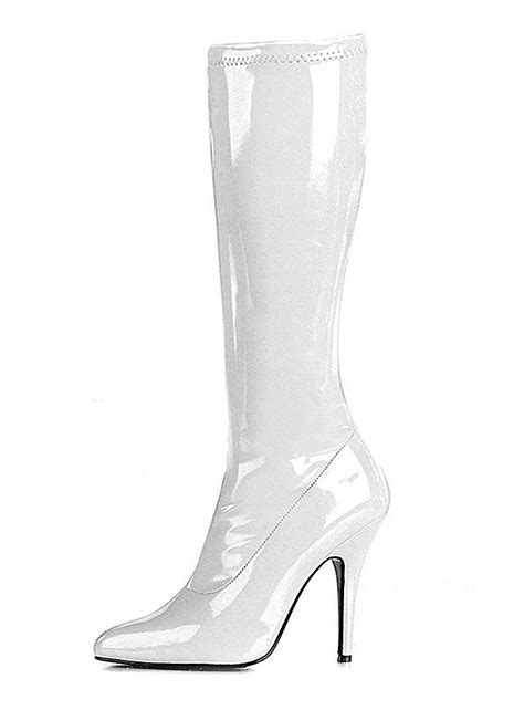 white knee high boots knee high boots white